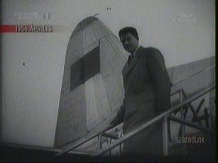 Gerard Philippe, francia flimművész Varsóban, 1956-ban
