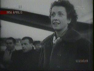 Danielle Darrieux, fracia filmművész Varsóban, 1956-ban