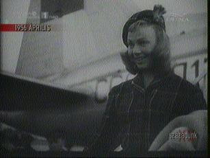Dany Robin, francia filmművész Varsóban, 1956-ban