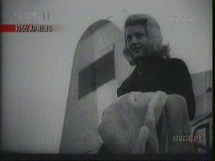 Nicole Courselle, francia filmművész Varsóban, 1956-ban