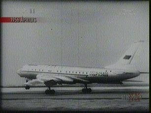 TU 104-es utasszállító repülőgép, 1956-ban
