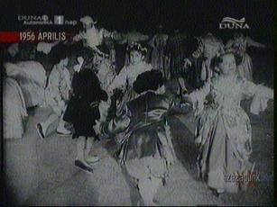 Jelmezes korcsolyabemutató a Millenáris Pálya műjegén, 1956-ban