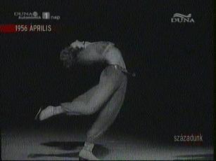 Tóth Erika keleti tánca a Millenáris Pálya műjegén, 1956-ban