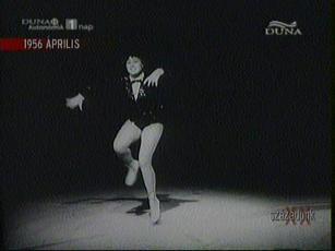 Rákosi Katalin táncegyveleg bemutatója a Millenáris Pálya műjegén, 1956-ban
