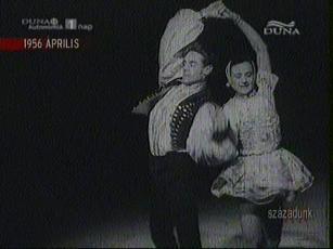 A Nagy-testvérpár csárdása a Millenáris Pálya műjegén 1956-ban