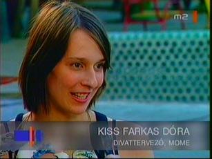 Kiss Farkas Dóra, divattervező, MOME