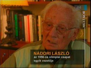 Nádori László, az 1956-os olimpiai csapat egyik vezetője