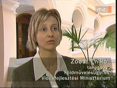 Zobor Enikő, tanácsos, Földművelésügyi és Vidékfejlesztési Minisztérium