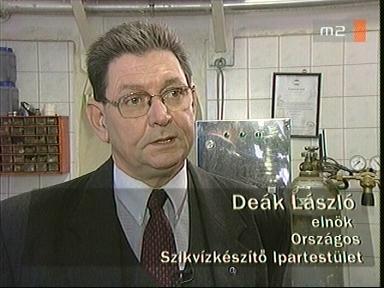 Deák László, elnök, Országos Szikvízkészítő Ipartestület