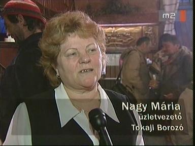 Nagy Mária, üzletvezető, Tokaji Borozó