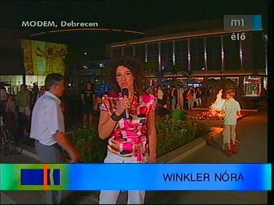 Winkler Nóra, [műsorvezető-tudósító, Debrecen]