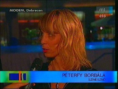 Péterfy Borbála, színésznő