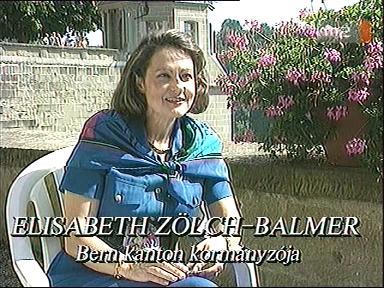 Elisabeth Zölch-Balmer, kormányzó, Bern kanton, [Svájc]