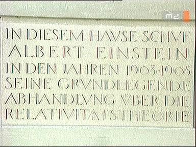 Albert Einstein emléktábla