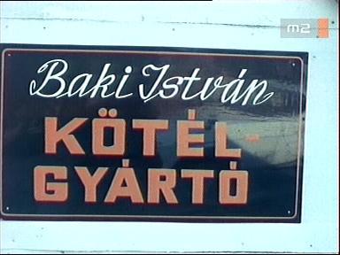 Baki István kötélgyártó cégére