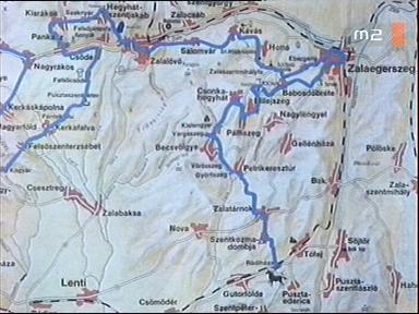 [Az ...és még egymillió lépés 7. útifilmjének útvonala]: Zalaegerszeg - Babosdöbréte - Milejszeg - Pálfiszeg - Csonkahegyhát - Kislengyel - Vargaszeg - Becsvölgye - Vörösszeg - Győrfiszeg - Petrikeresztúr - Zalatárnok - Szentkozmadombja - Rádiháza