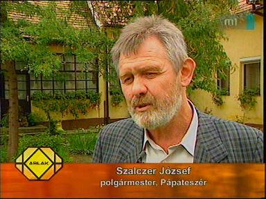 Szalczer József, polgármester, Pápateszér