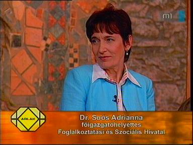 dr. Soós Adrianna, főigazgató-helyettes, Foglalkoztatási és Szociális Hivatal