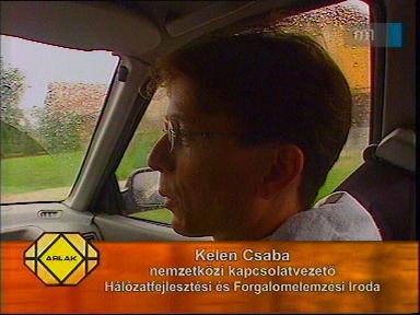 Kelen Csaba, nemzetközi kapcsolatvezető, Hálózatfejlesztési és Forgalomelemzési Iroda
