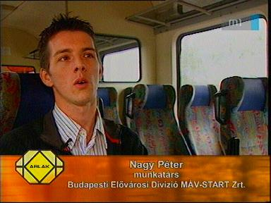 Nagy Péter, munkatárs, Budapesti Elővárosi Divízió MÁV-Start Zrt.