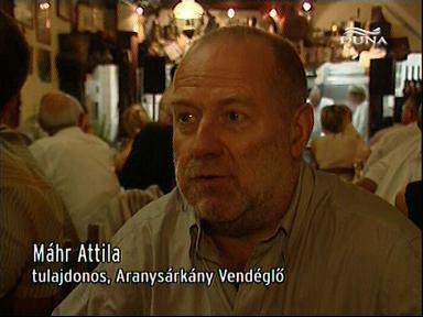 Máhr Attila, tulajdonos, Aranysárkány Vendéglő