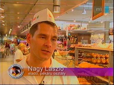 Nagy László, eladó, pékáru osztály