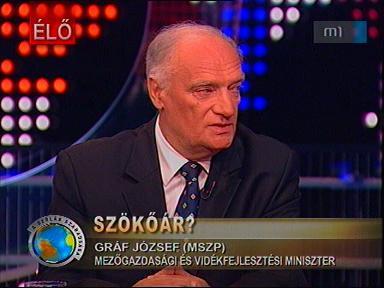 Gráf József, mezőgazdasági és vidékfejlesztési miniszter, MSZP