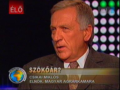 Csikai Miklós, elnök, Magyar Agrárkamara