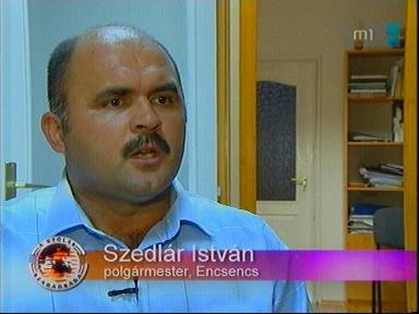 Szedlár István, polgármester, Encsencs