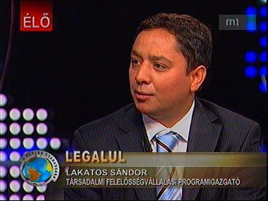 Lakatos Sándor, társadalmi felelősségvállalási programigazgató