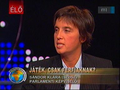 Sándor Klára, parlamenti képviselő, SZDSZ
