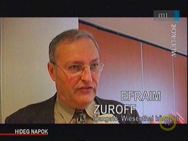 Efraim Zuroff, igazgató, Wiesenthal Központ