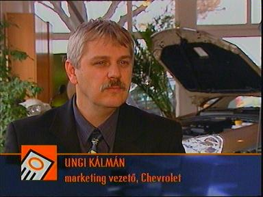 Ungi Kálmán, marketing vezető, Chevrolet