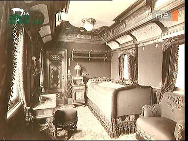 Ferenc József osztrák császár, magyar király és Erzsébet királyné számára fenntartott vasúti kocsi hálófülkéjének berendezése