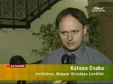 Katona Csaba, levéltáros, Magyar Országos Levéltár