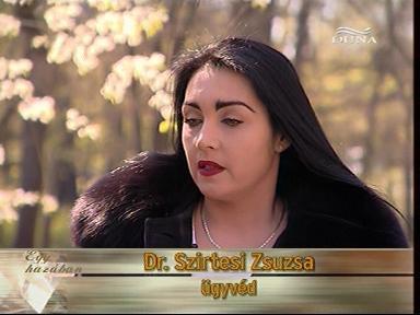 dr. Szirtesi Zsuzsa, ügyvéd