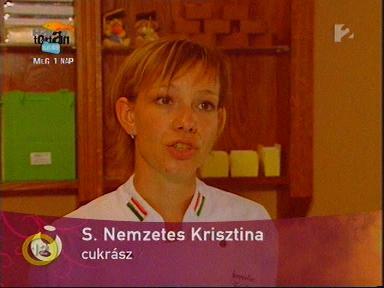 S. Nemzetes Krisztina, cukrász