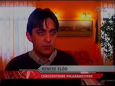 Kencse Előd, polgármester, Csíkszentimre