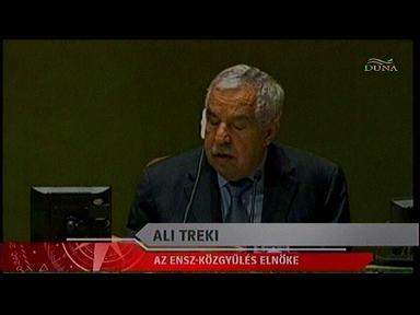 Ali Treki, elnök, ENSZ-közgyűlés