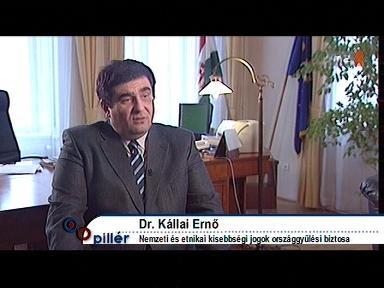 Dr. Kállai Ernő, a nemzeti és etnikai kisebbségi jogok országgyűlési biztosa