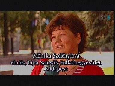 Mónika Szelényiová, elnök, Lipa Szlovák Folklóregyesület, Budapest