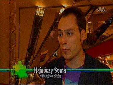 Hajnóczy Soma, világbajnok bűvész