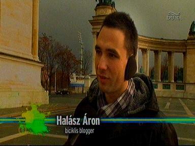 Halász Áron, biciklis blogger