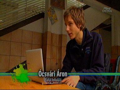 Ócsvári Áron, fiatal feltaláló