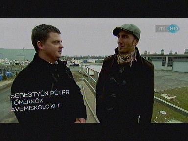 Sebestyén Péter, főmérnök, AVE Miskolc Kft. [balra]