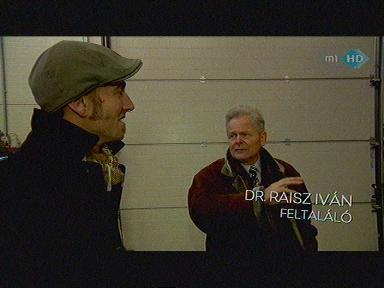 Dr. Raisz Iván, feltaláló [jobbra]