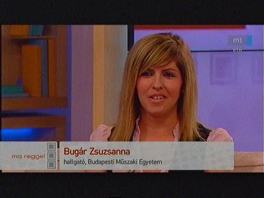 Bugár Zsuzsanna, hallgató, Budapesti Műszaki Egyetem