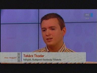 Takács Tivadar, hallgató, Budapesti Gazdasági Főiskola