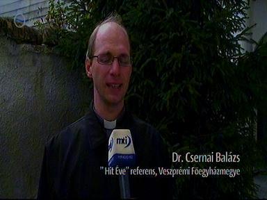 """Dr. Csernai Balázs, """"Hit Éve"""" referens, Veszprémi Főegyházmegye"""
