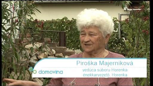 Piroska Majerniková, énekkar-vezető, Horenka Egyesület